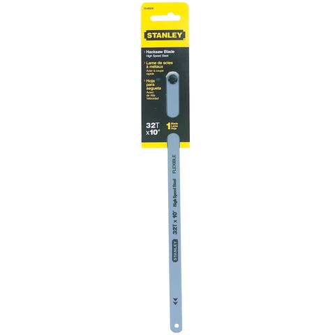 """Stanley Hand Tools 15-802A 10"""" 32 TPI High Carbon Steel Hacksaw Blade"""