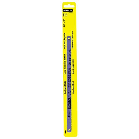"""Stanley Hand Tools 15-804A 10"""" 24 TPI High Carbon Steel Hacksaw Blade"""