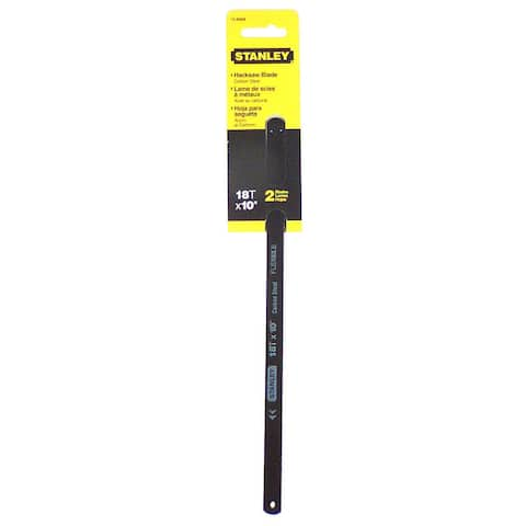 """Stanley Hand Tools 15-808A 10"""" 18 TPI High Carbon Steel Hacksaw Blade"""