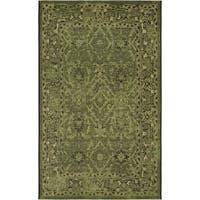 Safavieh Palazzo Black/ Cream/ Dark Green Oriental Area Rug (5' x 8')