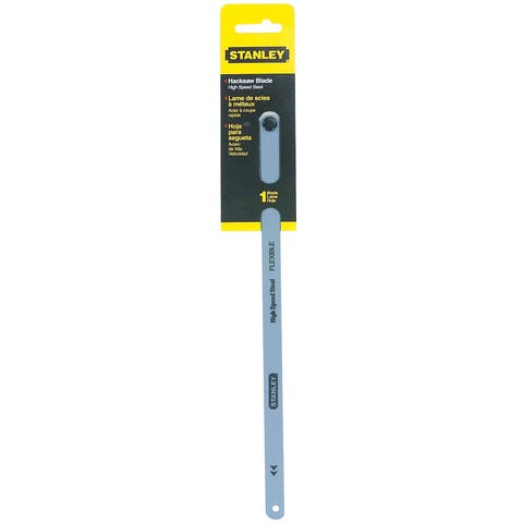 """Stanley Hand Tools 15-824A 12"""" 24 TPI High Carbon Steel Hacksaw Blade"""