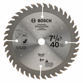 "Bosch PS740GP 7-1/4"" Precision Crosscut Blade With 40 Teeth"