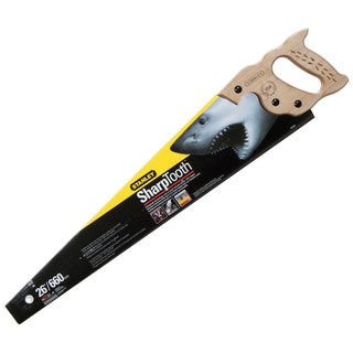 "Stanley Hand Tools 20-065 26"" 12 TPI SharpTooth Hand Saw"