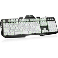 IOGEAR Kaliber Gaming HVER Aluminum Gaming Keyboard - Imperial White