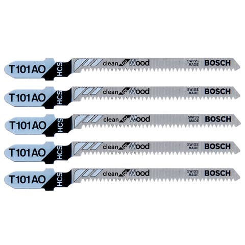 """Bosch T101D T-Shank Wood Jig Saw Blades 4"""""""