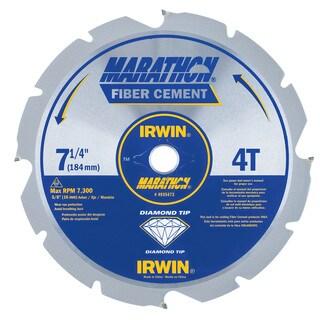 """Irwin Marathon 4935473 7-1/4"""" 4T Marathon Fiber Cement Circular Saw Blade"""