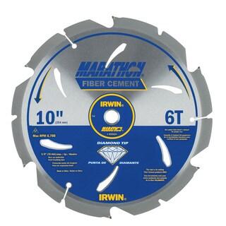 """Irwin Marathon 4935624 10"""" 6T Marathon Fiber Cement Circular Saw Blade"""