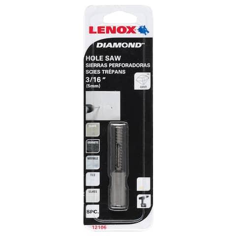 "Lenox 121063DGDS 3/16"" Diamond Holesaw"
