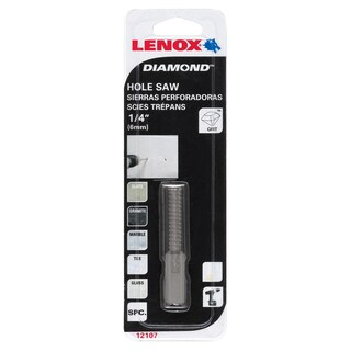 "Lenox 121074DGDS 1/4"" Diamond Holesaw"