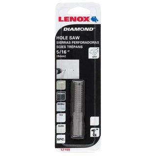 "Lenox 121108DGDS 1/2"" Diamond Holesaw"