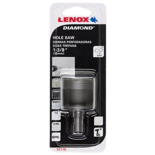 "Lenox 1211622DGDS 1-3/8"" Diamond Holesaw"
