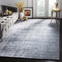 Safavieh Handmade Mirage Modern Light Grey Viscose Rug - 6' x 9'