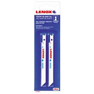 "Lenox 20328-480J 2 Pack 4-1/2"" 10 TPI Universal Tuff Tooth Jig Saw Blade"