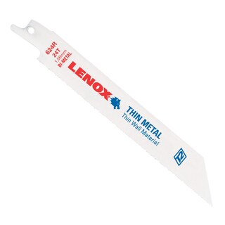 "Lenox 20569-S624R 6"" 24 TPI Metal Reciprocating Blade"