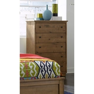 Diego Walnut Finish 5 Drawer Chest