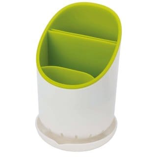 Joseph Joseph Dock Cutlery Drainer and Organizer, White/Green