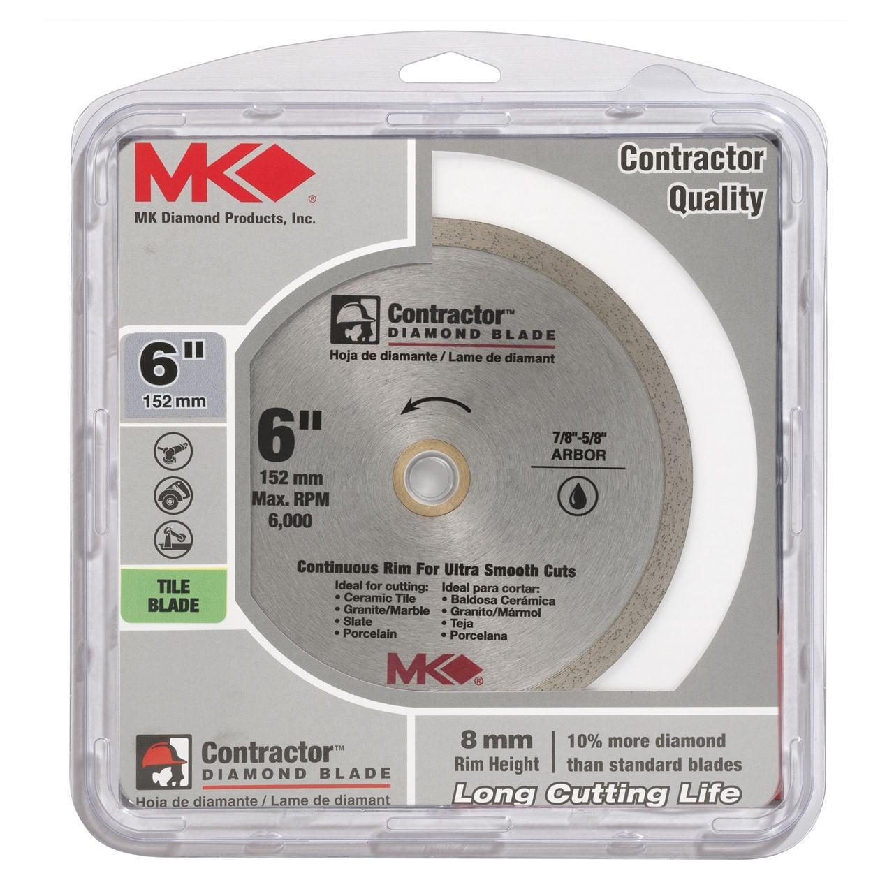 """DIAMOND BLADE 7 /"""" WET CON M.K Diamond Prod 167029 UPC: 092333891318"""