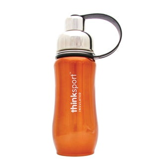 Thinksport Metallic Orange 12-ounce Insulated Sports Bottle
