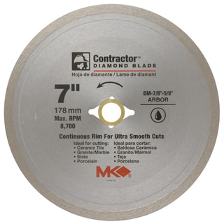 "MK Diamond 167029 7"" Contractor Diamond Blade"
