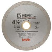 "MK Diamond 167028 4-1/2"" Contractor Diamond Blade"