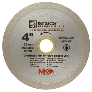 "MK Diamond 167027 4"" Contractor Continuous Rim Tile Blade"