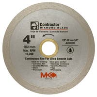 "MK Diamond 167027 4"" Contractor Continuous Rim Tile Blade"