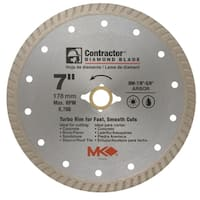 "MK Diamond 167022 7"" Contractor Diamond Blade"