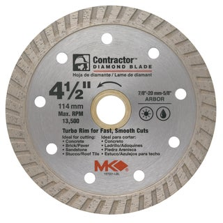 "MK Diamond 167021 4-1/2"" Contractor Diamond Blade"
