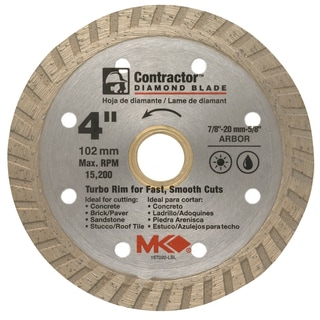 "MK Diamond 167020 4"" Contractor Diamond Blade"