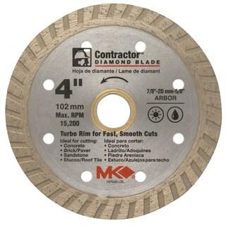"MK Diamond 167020 4"" Contractor Diamond Blade"