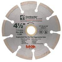 "MK Diamond 167012 4-1/2"" Contractor Diamond Blade"