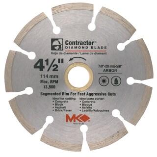 "MK Diamond 167012 4-1/2"" Contractor Diamond Blade"