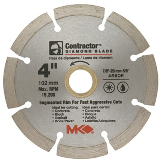"MK Diamond 167011 4"" Contractor Diamond Blade"