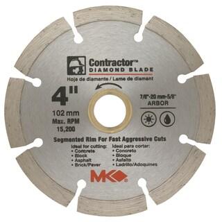 "MK Diamond 167011 4"" Contractor Diamond Blade"