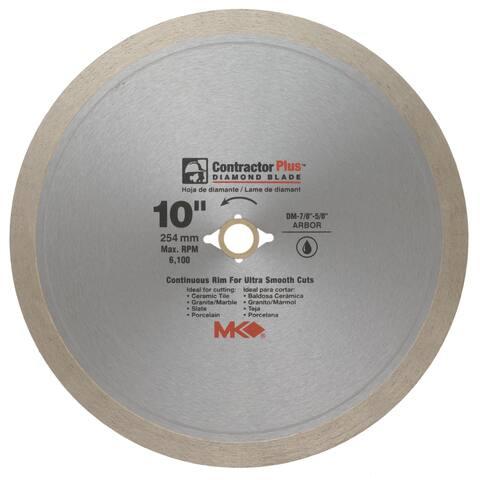 "MK Diamond 167010 10"" Contractor Plus Continuous Rim Tile Blade"