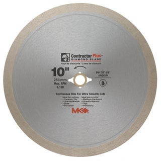 "MK Diamond 167010 10"" Contractor Plus Continuous Rim Tile Blade"