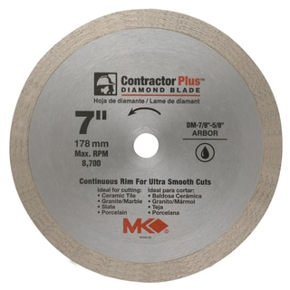 "MK Diamond 167008 7"" Contractor Plus Continuous Rim Tile Blade"