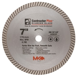 "MK Diamond 167001 7"" Contractor Plus Diamond Blade"