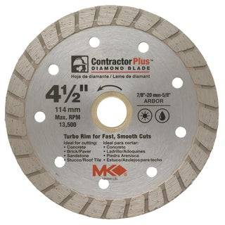 "MK Diamond 166999 4-1/2"" Contractor Plus Diamond Blade"