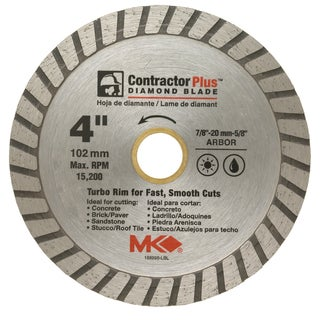 "MK Diamond 166998 4"" Contractor Plus Diamond Blade"