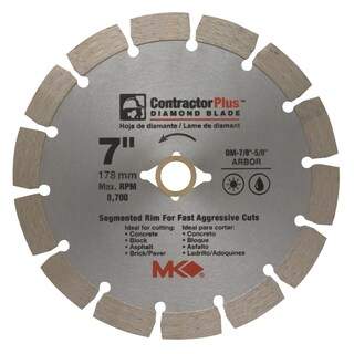 "MK Diamond 166991 7"" Contractor Plus Diamond Blade"