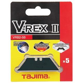 Tajima VRB2-5B Carbon Steel Utility Blade 5-count