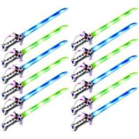 Velocity Toys Astro Pirate Flashing LED Light Up and Sound Party Toy Light Sword Sabers (Set of 12)