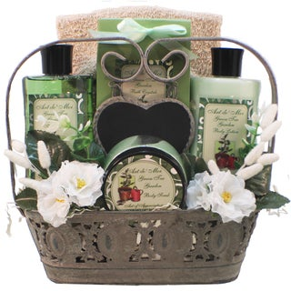 Spa Treasures Green Tea Delight Spa Gift Basket