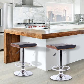 Armen Living Chrome Finish Java Bar Stool