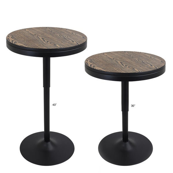 LumiSource Dakota Industrial Adjustable Dining / Bar Table   Free Shipping  Today   Overstock.com   18564768