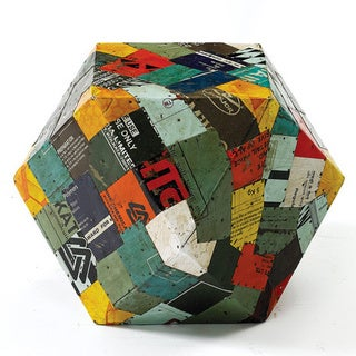 Hip Vintage Tin Patchwork Rubix Stool