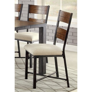 Furniture of America Kesso Industrial Metal Side Chair (Set of 2)
