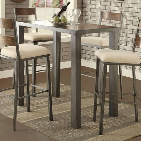 Kesso Industrial Weathered Oak Plank Bar Table by FOA