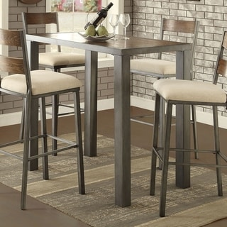 Furniture of America Kesso Industrial Plank Style Metal Bar Table